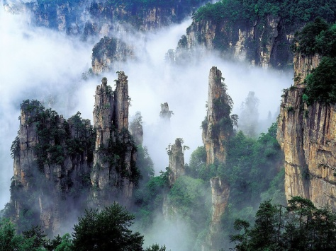 The Coolest Places On Earth: Tianzi Mountains, China (Picture Gallery)