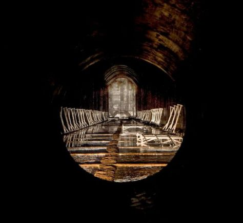 View from inside the pipe (click to enlarge)