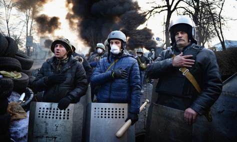 Anti-government protestors (Photo: The Guardian)