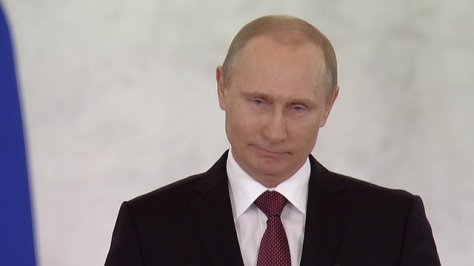 Putin speaking in front of Russian parliament earlier today (Photo: BBC)