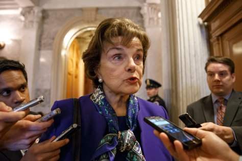 Feinstein after speaking with the Senate (Photo: AP/J. Scott Applewhite)