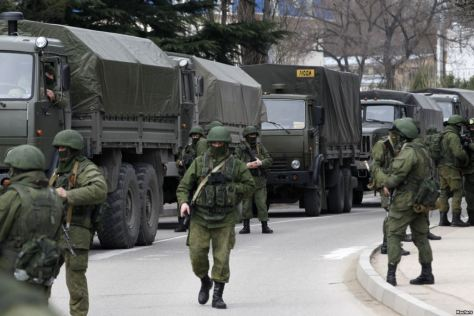 Russian troops entering Crimea (Photo: Reuters)