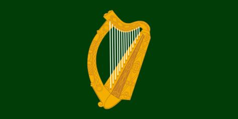 "The ""green harp flag"" (Image: Wikimedia Commons)"