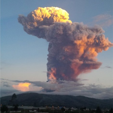 "Tungurahua means ""Throat of Fire"" in the local Quechua language"