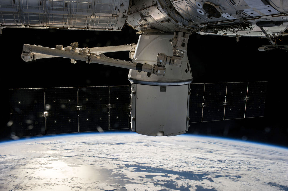 Dragon docked into the International Space Station