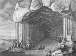 Engraving based on sketches made of Fingal's Cave by John Cleveley Jnr. published in 1772