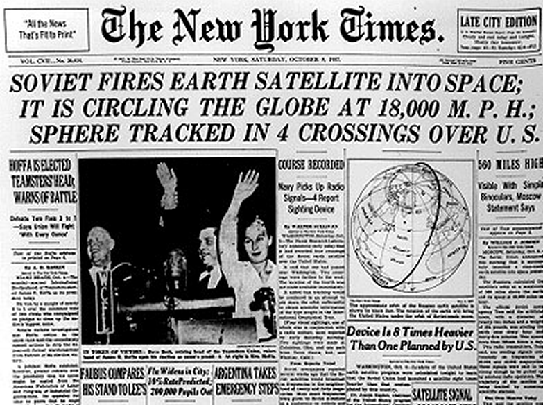 satellites and sputnik essay The beginnings of satellites the united states lost the first battle of the space race when the ussr launched sputnik i, the first earth orbiting satellite on.