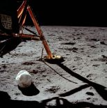 The first photo taken by Armstrong after he stepped on the moon (Photo: NASA/Project Apollo Archive)