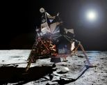 A photo Armstrong took of Aldrin exiting the Eagle. (Photo: Photo: NASA/Project Apollo Archive/composite by Ed Hengeveld)
