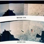 Panoramic taken from the lunar module before and after the moonwalk (Photo: NASA)