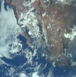 An aerial shot of the U.S. and Mexico during the Earth orbit phase (Photo: NASA/Project Apollo Archive)