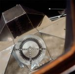 The docking target on the lunar module as seen from the command module (Photo: NASA/Project Apollo Archive)