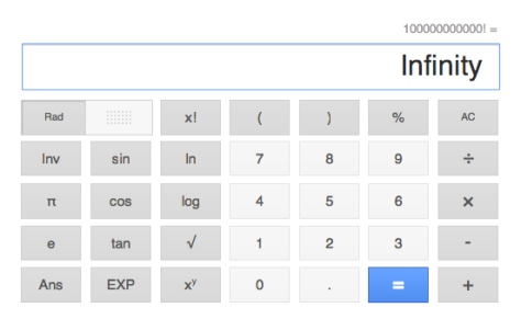 Google calculator was having no part of that calculation