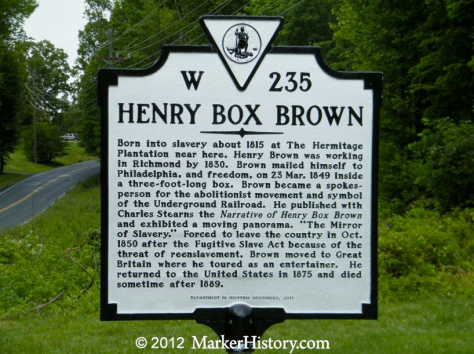 A close up of the historical marker in Louisa County, Virginia. Click to enlarge
