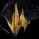 Rutile on Hematite in Quartz