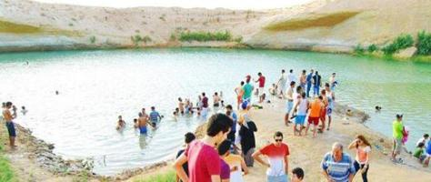 The lake has already attracted hundreds of visitors, and more are expected. Click to enlarge